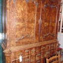Early burled dutch cabinet