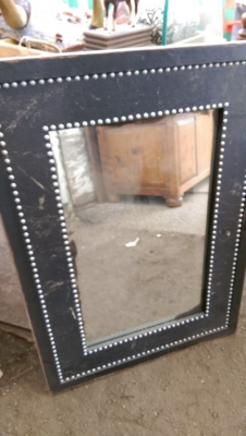 15K24804 BLACK FRAME WITH SILVER BEADS MIRROR.jpg