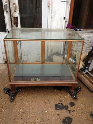 15K24838 SMALL 2 DOOR WOOD AND GLASS SHOWCASE.jpg