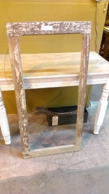 15K24855 DISTRESSED YELLOW PAINT FRAME.jpg