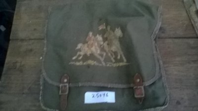 15K25046 GREEN CANVAS BAG WITH HORSES.jpg