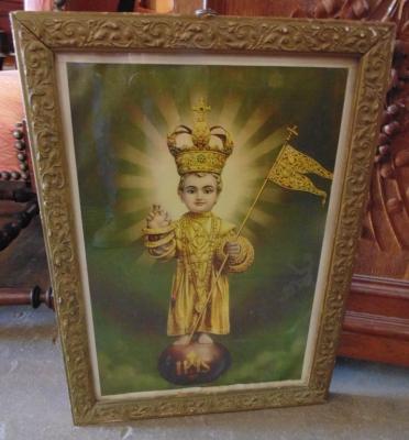 14D14102 INFANT OF PRAGUE PRINT IN FRAME