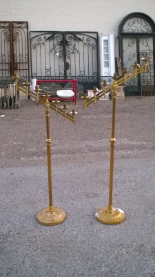 15L21006 PAIR OF BRASS CANDLEABRAS (1).jpg
