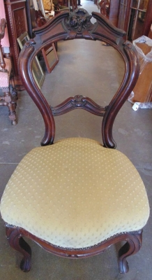 14D14105 CARVED VICTORIAN ERA CHAIR