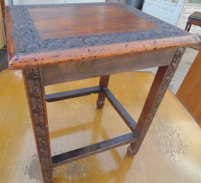 14D14 CARVED LOW TABLE