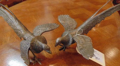 14D14451 PAIR LARGE FIGHTING PHEASANTS (2).JPG