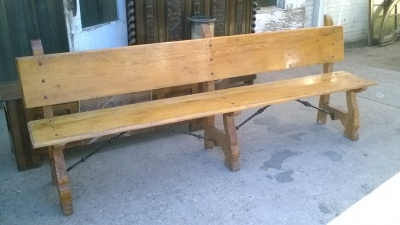 16A10012 SPANISH BAROQUE STYLE IRON TRESTLE BENCH (1).jpg