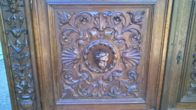 16A10015 CARVED  ITALIAN WALNUT RENAISSANCE REVIVAL SERVER (3).jpg