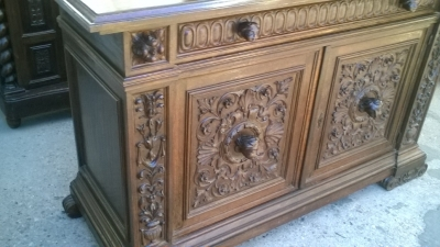 16A10015 CARVED  ITALIAN WALNUT RENAISSANCE REVIVAL SERVER (5).jpg