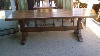 16A10018 ITALIAN OAK TRESTLE FARM TABLE (1).jpg
