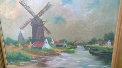 16B02017 TRUMEAU MIRROR WITH WINDMILL PAINTING (2).jpg