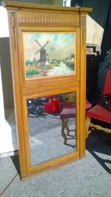 16B02017 TRUMEAU MIRROR WITH WINDMILL PAINTING (3).jpg