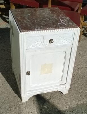 16B02033 MARBLE TOP PAINTED WHITE NIGHT STAND (1).jpg