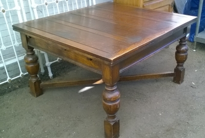 16B02044 LARGE ENGLISH DRAWLRAF TABLE WITH TURNED LEGS (2).jpg