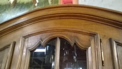 16A01411 LARGE OAK ARCHED TOP BOOKCASE (2).jpg