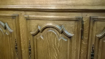 16A01411 LARGE OAK ARCHED TOP BOOKCASE (3).jpg