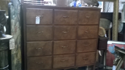 36-87027 ANTIQUE LARGE PINE MERCANTILE MULTIDRAWER CABINET (1).jpg