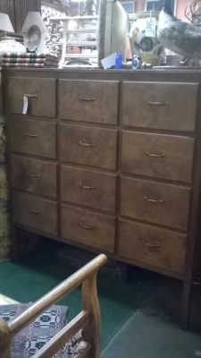 36-87027 ANTIQUE LARGE PINE MERCANTILE MULTIDRAWER CABINET (2).jpg