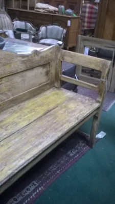 36-87229 SHABBY CHIC YELLOW PAINTED WOODEN BENCH (2).jpg