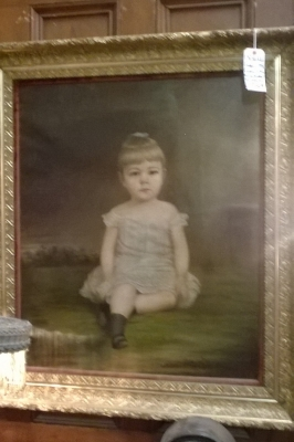 36-FRAMED OIL PAINTING OF LITTLE GIRL (1).jpg