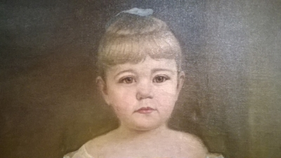 36-FRAMED OIL PAINTING OF LITTLE GIRL (2).jpg