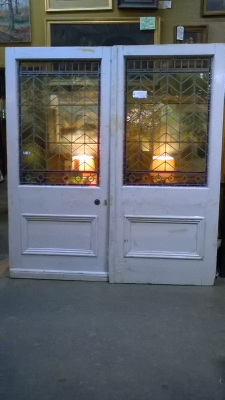 16B02038 PAIR OF LARGE STAINED GLASS DOORS (2).jpg