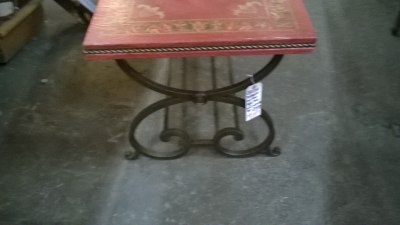 36-87306 PAINTED IRON BASE COFFEE TABLE (2).jpg