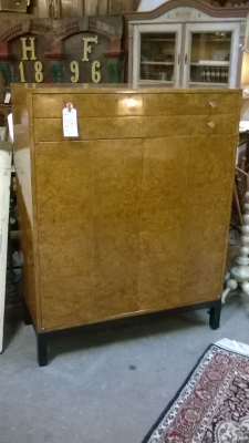 36-87313 TWO DOOR BURLED WOOD CABINET WITH DRAWERS.jpg