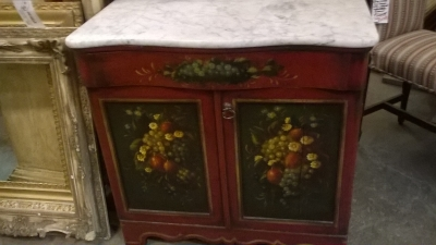 36-PAINTED MARBLE TOP NIGHT STAND (1).jpg