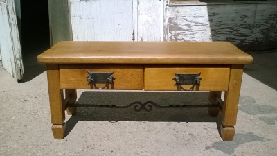 16C04027 RUSTIC LOW BENCH OR TABLE.jpg