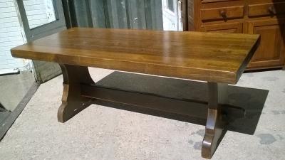 16C04033C OAK TRESTLE TABLE (2).jpg