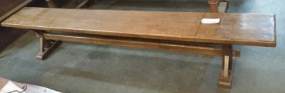 16C04065 PAIR OF 8 FT LONG FRENCH BENCHES (1).jpg