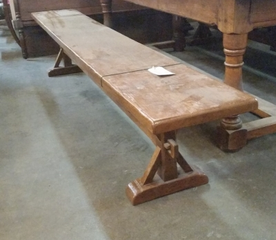 16C04065 PAIR OF 8 FT LONG FRENCH BENCHES (2).jpg