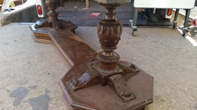 16C13010 ACANTHUS CARVED LONG DOUBLE PEDESTAL LIBRARY TABLE ON BASE (2).jpg