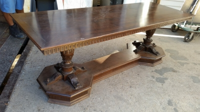 16C13010 ACANTHUS CARVED LONG DOUBLE PEDESTAL LIBRARY TABLE ON BASE (3).jpg