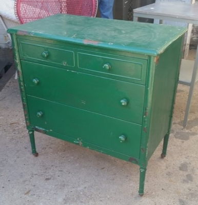 16C13042 GREEN PAINTED METAL CHEST OF DRAWERS (2).jpg