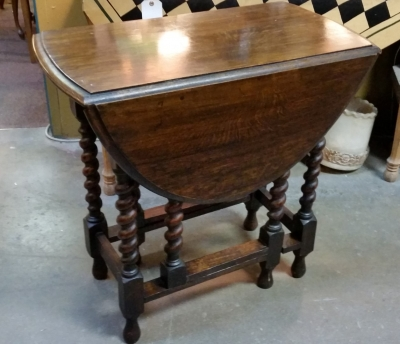 16C19003 DARK OAK BARLEY TWIST DROPLEAF TABLE.jpg