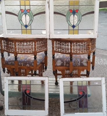 16C19150 SET OF 4 STAINED GLASS SWAG WINDOWS (2).jpg