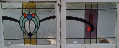 16C19150 SET OF 4 STAINED GLASS SWAG WINDOWS (3).jpg