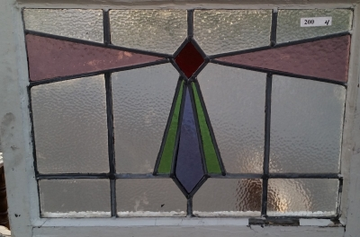16C19200A SMALL GEOMETRIC STAINED GLASS WINDOW.jpg