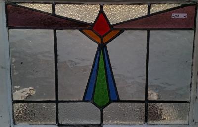 16C19200B MEDIUM GEOMETRIC STAINED GLASS WINDOW.jpg