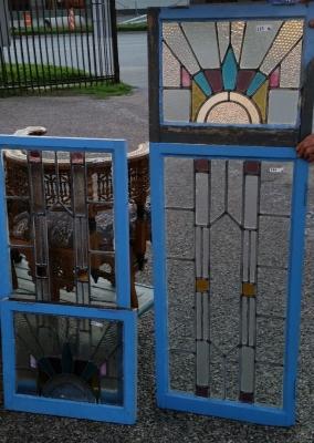 16C19222 FOUR PIECE DECO STAINED GLASS WINDOW SET (1).jpg
