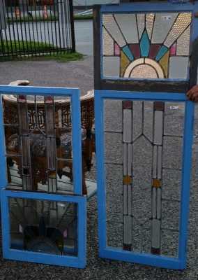 16C19222 FOUR PIECE DECO STAINED GLASS WINDOW SET (1).jpg