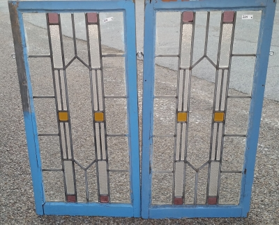 16C19224 PAIR OF VERTICAL STAINED GLASS WINDOWS.jpg
