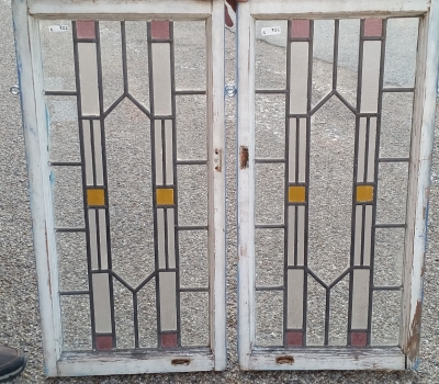 16C19225 PAIR OF MEDIUM VERTICAL STAINED GLASS WINDOWS.jpg