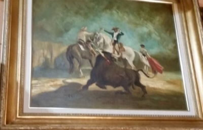 16D01 BULL FIGHTER OIL PAINTING.jpg