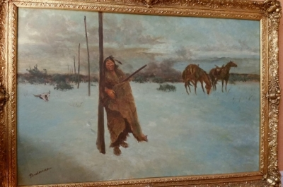16d01 indian in winter oil painting.jpg