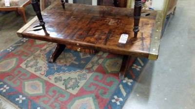 36-87430 SHIPS WOOD AND BRASS COFFEE TABLE (1).jpg