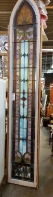 36-87432 TALL GOTHIC STAINED GLASS WINDOW 10.6 FT X 2 FEET (1).jpg