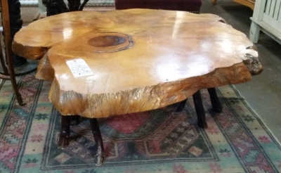36-87502 VINTAGE SLICE OF TREE TRUNK COFFEE TABLE (1).jpg